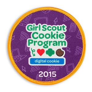 girl scout cookie program digital cookie 2015 sew on fun patch